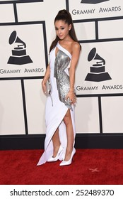 LOS ANGELES - FEB 08:  Ariana Grande arrives to the Grammy Awards 2015  on February 8, 2015 in Los Angeles, CA