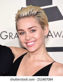 LOS ANGELES - FEB 08:  Miley Cyrus arrives to the Grammy Awards 2015  on February 8, 2015 in Los Angeles, CA