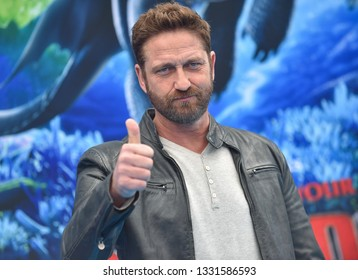 LOS ANGELES - FEB 09:  Actor Gerard Butler arrives to the 'How To Train Your Dragon: The Hidden World' Los Angeles Premiere  on February 9, 2019 in Hollywood, CA