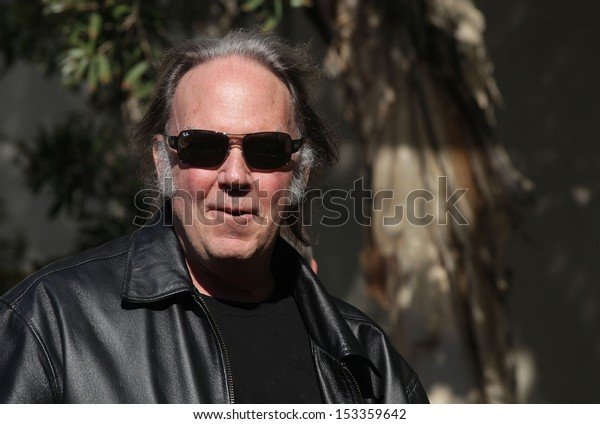 LOS ANGELES - FEB 09:  Neil Young arrives to the Walk of Fame Ceremony for Paul McCartney  on Febraury 09, 2012 in Hollywood, CA