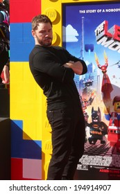 "LOS ANGELES - FEB 1:  Chris Pratt at the ""Lego Movie"" Premiere at Village Theater on February 1, 2014 in Westwood, CA"
