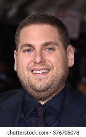LOS ANGELES - FEB 1 - Jonah Hill arrives at the Hail, Caesar World Premiere on February 1, 2016 in Westwood, CA