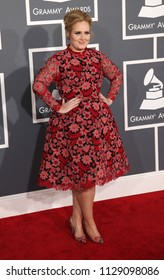 LOS ANGELES - FEB 10:  Adele arrives to the 2013 Grammy Awards  on February 10, 2013 in Hollywood, CA