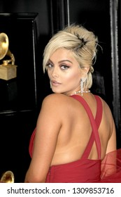 LOS ANGELES - FEB 10:  Bebe Rexha at the 61st Grammy Awards at the Staples Center on February 10, 2019 in Los Angeles, CA