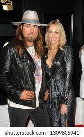 LOS ANGELES - FEB 10:  Billy Ray Cyrus, Tish Cyrus at the 61st Grammy Awards at the Staples Center on February 10, 2019 in Los Angeles, CA