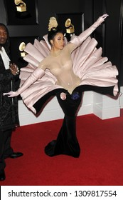 LOS ANGELES - FEB 10:  Cardi B at the 61st Grammy Awards at the Staples Center on February 10, 2019 in Los Angeles, CA