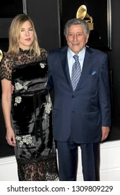 LOS ANGELES - FEB 10:  Diana Krall, Tony Bennett at the 61st Grammy Awards at the Staples Center on February 10, 2019 in Los Angeles, CA