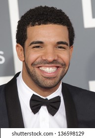 LOS ANGELES - FEB 10:  Drake arrives to the Grammy Awards 2013  on February 10, 2013 in Los Angeles, CA.