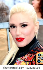 LOS ANGELES - FEB 10:  Gwen Stefani at the Adam Levine Hollywood Walk of Fame Star Ceremony at Musicians Institute on February 10, 2017 in Los Angeles, CA