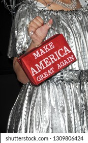 LOS ANGELES - FEB 10:  Joy Villa purse detail, Make America Great Again at the 61st Grammy Awards at the Staples Center on February 10, 2019 in Los Angeles, CA