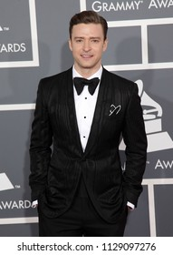 LOS ANGELES - FEB 10:  Justin Timberlake arrives to the 2013 Grammy Awards  on February 10, 2013 in Hollywood, CA