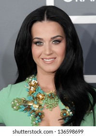 LOS ANGELES - FEB 10:  Katy Perry arrives to the Grammy Awards 2013  on February 10, 2013 in Los Angeles, CA.