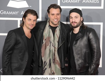 LOS ANGELES - FEB 10:  Swedish House Mafia arrives to the 2013 Grammy Awards  on February 10, 2013 in Hollywood, CA