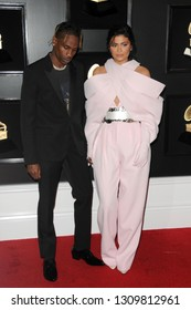 LOS ANGELES - FEB 10:  Travis Scott, Kylie Jenner at the 61st Grammy Awards at the Staples Center on February 10, 2019 in Los Angeles, CA