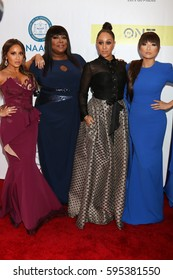 LOS ANGELES - FEB 11:  Adrienne Bailon Houghton, Loni Love, Tamera Mowry, Jeannie Mai at the 48th NAACP Image Awards Arrivals at Pasadena Conference Center on February 11, 2017 in Pasadena, CA