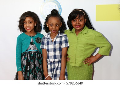LOS ANGELES - FEB 11:  Ambrielle-Baker Rogers, Morgan Coleman, Miah Bell-Olson at the 48th NAACP Image Awards Arrivals at Pasadena Conference Center on February 11, 2017 in Pasadena, CA