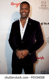 """LOS ANGELES - FEB. 12: AJ Calloway  attends the """"Fame At The Mansion"""" 2012 Grammy Aterparty hosted by Sean """"Diddy"""" Combs held at the Playboy Mansion. Los Angeles, Feb 12, 2012"""