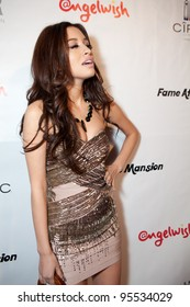 """LOS ANGELES - FEB. 12: Christian Serratos attends the """"Fame At The Mansion"""" 2012 Grammy Aterparty hosted by Sean """"Diddy"""" Combs held at the Playboy Mansion. Los Angeles, Feb 12, 2012"""