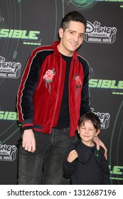 "LOS ANGELES - FEB 12:  David Dastmalchian, son at the ""Kim Possible"" Premiere Screening at the TV Academy on February 12, 2019 in Los Angeles, CA"