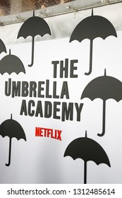 LOS ANGELES - FEB 12: General Atmosphere at the premiere of Netflix's 'The Umbrella Academy' at ArcLight Hollywood on February 12, 2019 in Los Angeles, California,