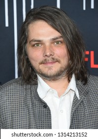 LOS ANGELES - FEB 12:  Gerard Way arrives for the Netflix's 'The Umbrella Academy' Premiere - Season 1 on February 12, 2019 in Hollywood, CA