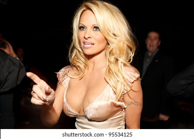 """LOS ANGELES - FEB. 12: Pamela Anderson attends the """"Fame At The Mansion"""" 2012 Grammy Aterparty hosted by Sean """"Diddy"""" Combs held at the Playboy Mansion. Los Angeles, Feb 12, 2012"""