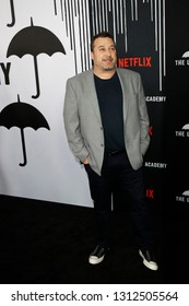 LOS ANGELES - FEB 12: Steve Blackman at the premiere of Netflix's 'The Umbrella Academy' at ArcLight Hollywood on February 12, 2019 in Los Angeles, California,