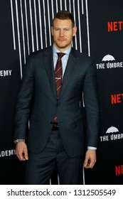 LOS ANGELES - FEB 12: Tom Hopper at the premiere of Netflix's 'The Umbrella Academy' at ArcLight Hollywood on February 12, 2019 in Los Angeles, California,