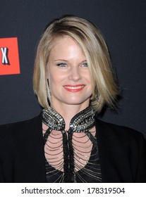 """LOS ANGELES - FEB 13:  Joelle Carter the  """"House Of Cards"""" Season 2 Premiere  on February 13, 2014 in West Hollywood, CA"""