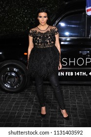 LOS ANGELES - FEB 13:  Kim Kardashian arrives to the Topshop Topman Store Opening Party  on February 13, 2013 in Hollywood, CA