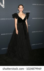 """LOS ANGELES - FEB 13:  Natalie Portman at the """"Annihilation"""" Los Angeles Premiere at Village Theater on February 13, 2018 in Westwood, CA"""