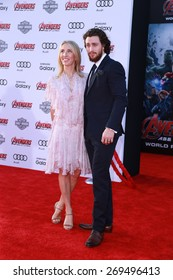 "LOS ANGELES - FEB 13:  Sam Taylor-Johnson, Aaron Taylor-Johnson at the ""Avengers; Age Of Ultron"" Los Angeles Premiere at the Dolby Theater on April 13, 2015 in Los Angeles, CA"
