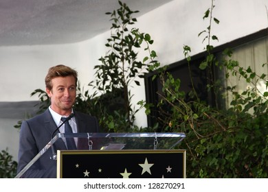 LOS ANGELES - FEB 14:  Simon Baker at the Hollywood Walk of Fame Ceremony honoring Simon Baker at the Hollywood Boulevard on February 14, 2013 in Los Angeles, CA