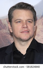 "LOS ANGELES - FEB 15:  Matt Damon at ""The Great Wall"" Premiere at the TCL Chinese Theater on February 15, 2017 in Los Angeles, CA"