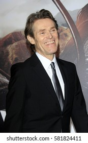 """LOS ANGELES - FEB 15:  Willem Dafoe at """"The Great Wall"""" Premiere at the TCL Chinese Theater on February 15, 2017 in Los Angeles, CA"""