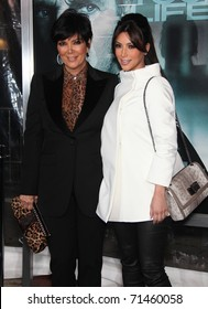 """LOS ANGELES - FEB 16:  Kris Jenner & Kim Kardashian arrive at the """"Unknown"""" Los Angeles Premiere on February 16, 2011 in Westwood, CA"""