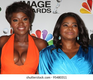 LOS ANGELES - FEB 17:  Viola Davis, Octavia Spencer in the Press Room of the 43rd NAACP Image Awards at the Shrine Auditorium on February 17, 2012 in Los Angeles, CA