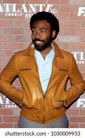 """LOS ANGELES - FEB 19:  Donald Glover at the """"tlanta Robbin"""" LA Premiere Screening at the Theatre at Ace Hotel on February 19, 2018 in Los Angeles, CA"""