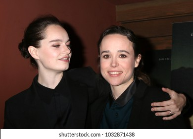 """LOS ANGELES - FEB 20:  Emma Portner, Ellen Page at """"The Cured"""" LA Screening at Sunset 5 Theater on February 20, 2018 in West Hollywood, CA"""