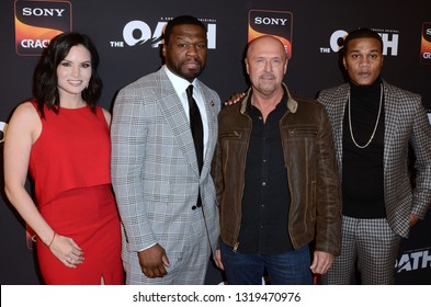 "LOS ANGELES - FEB 20:  Katrina Law, Curtis Jackson, Joe Halpin, Cory Hardrict at ""The Oath"" Season 2 Screening Event  at the Paloma on February 20, 2019 in Hollywood, CA"