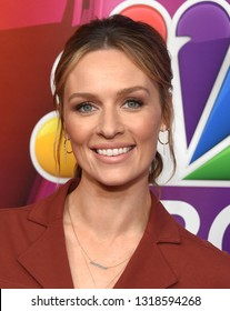LOS ANGELES - FEB 20:  Michaela McManus arrives for the NBCUniversal Mid Season Press Junket on February 20, 2019 in Hollywood, CA