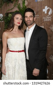 LOS ANGELES - FEB 20:  Sophie Skelton, Jeff Gum at the Global Green 2019 Pre-Oscar Gala at the Four Seasons Hotel on February 20, 2019 in Beverly Hills, CA