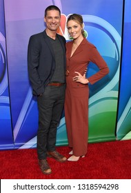 LOS ANGELES - FEB 20:  Warren Christie and Michaela McManus arrives for the NBCUniversal Mid Season Press Junket on February 20, 2019 in Hollywood, CA