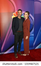 LOS ANGELES - FEB 20:  Warren Christie, Michaela McManus at the NBC's Los Angeles Mid-Season Press Junket at the NBC Universal Lot on February 20, 2019 in Universal City, CA