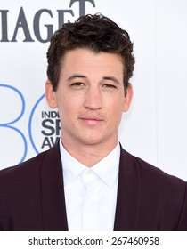 LOS ANGELES - FEB 21:  Miles Teller arrives to the 2015 Film Independent Spirit Awards  on February 21, 2015 in Santa Monica, CA