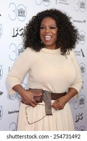 LOS ANGELES - FEB 21:  Oprah Winfrey at the 30th Film Independent Spirit Awards at a tent on the beach on February 21, 2015 in Santa Monica, CA