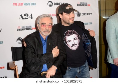 """LOS ANGELES - FEB 22:  Burt Reynolds, Adam Rifkin at the """"The Last Movie Star"""" Premiere at the Egyptian Theater on February 22, 2018 in Los Angeles, CA"""