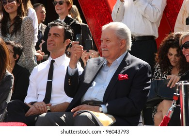 LOS ANGELES - FEB 22:  Justin Theroux; John Aniston at the Jennifer Aniston Hollywood Walk of Fame Star Ceremony at the W Hollywood on February 22, 2012 in Los Angeles, CA.