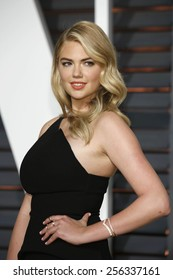 LOS ANGELES - FEB 22:  Kate Upton at the Vanity Fair Oscar Party 2015 at the Wallis Annenberg Center for the Performing Arts on February 22, 2015 in Beverly Hills, CA