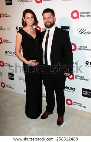 LOS ANGELES - FEB 22:  Lisa Osbourne, Jack Osbourne at the Elton John Oscar Party 2015 at the City Of West Hollywood Park on February 22, 2015 in West Hollywood, CA